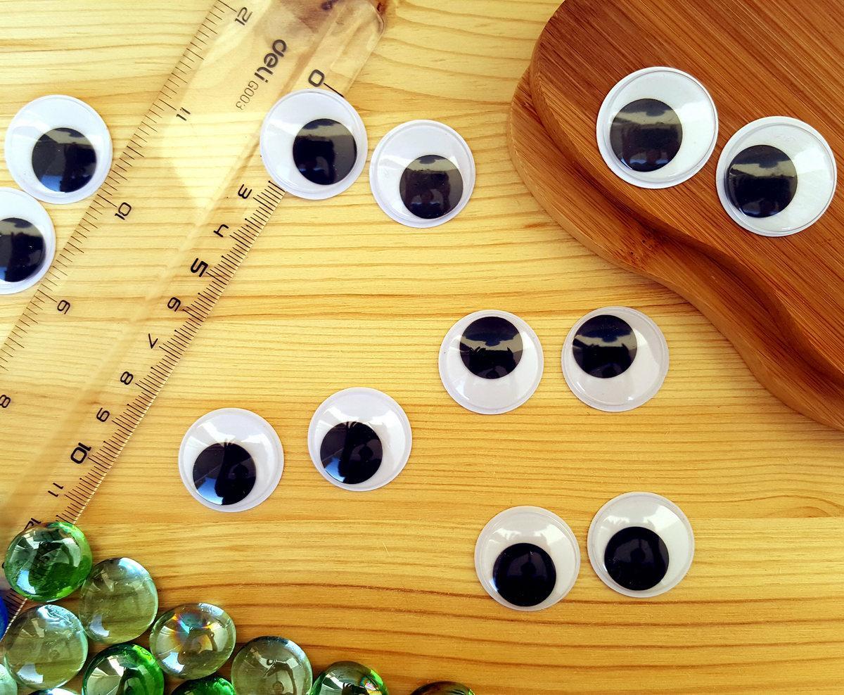 (10грамм, Ø25мм) Подвижные глазки для игрушек Ø25мм (≈26-30 глазок)