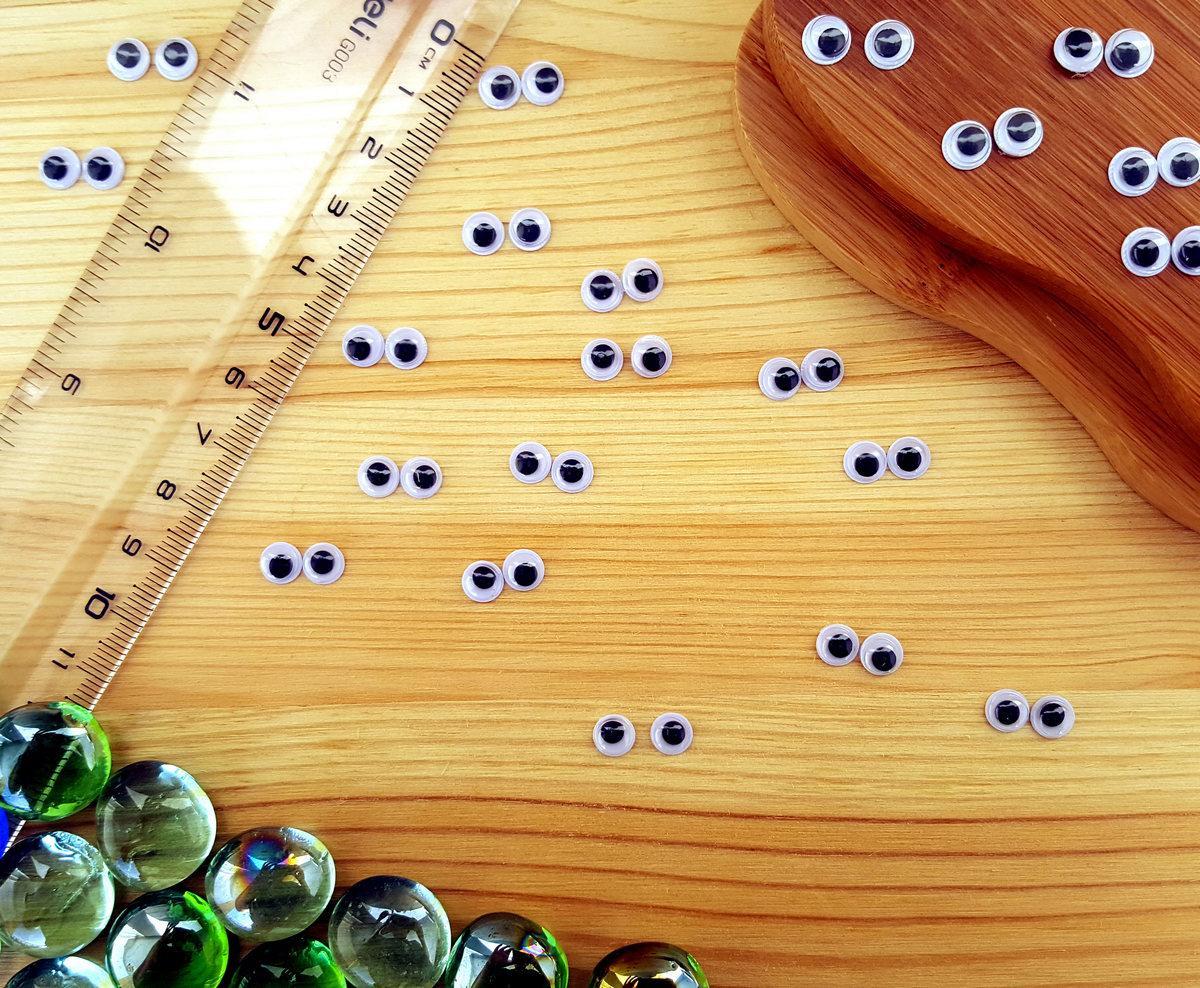 (10грамм, Ø6мм) Подвижные глазки для игрушек Ø6мм (≈370-390 глазок)