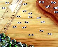 (10грамм, Ø6мм) Подвижные глазки для игрушек Ø6мм (≈370-390 глазок), фото 1