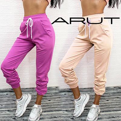Женские стильные свободные спортивные штаны с манжетами