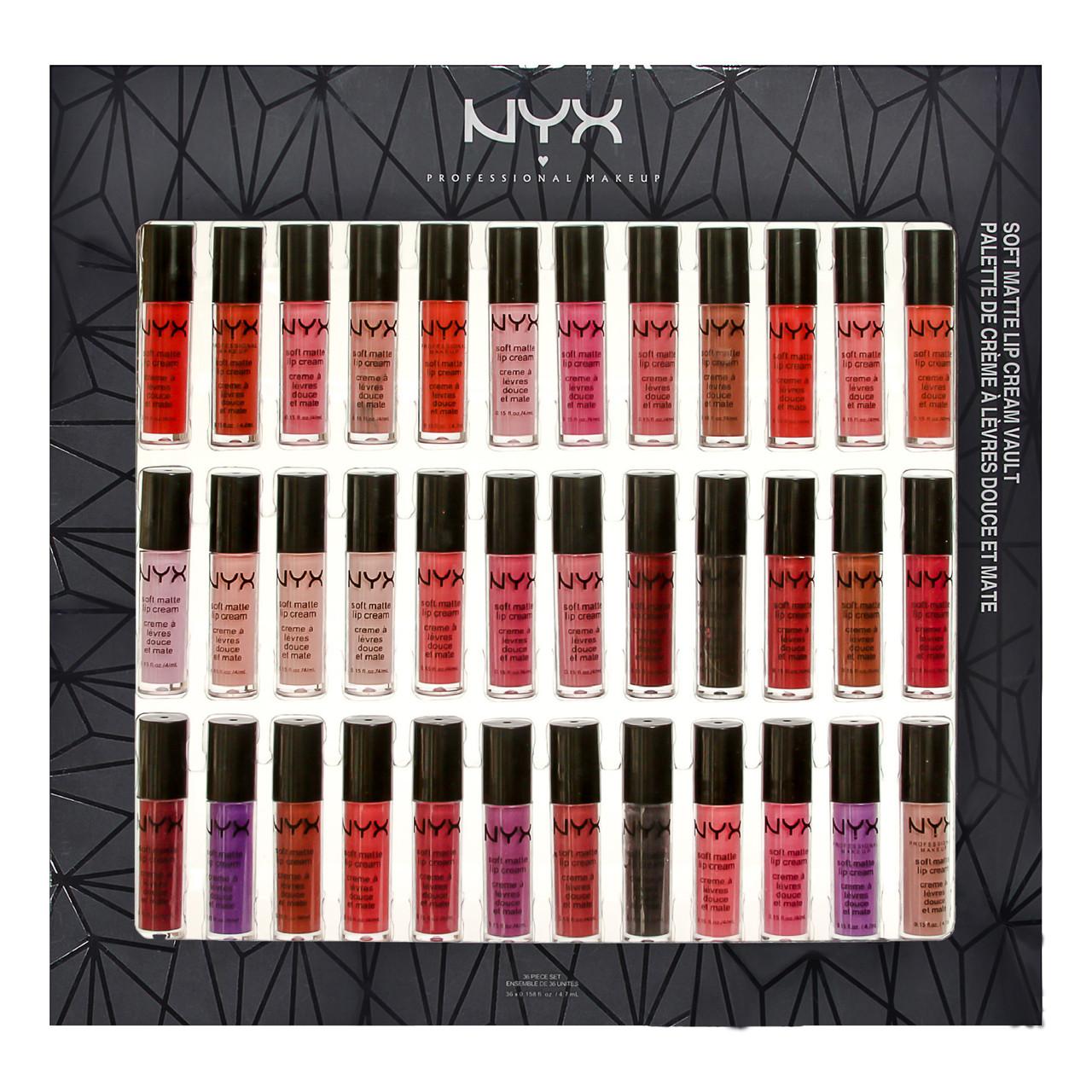 Набор помад NYX Soft Matte Lip Cream Vault 36 in 1 УЦЕНКА(примятая упаковка)
