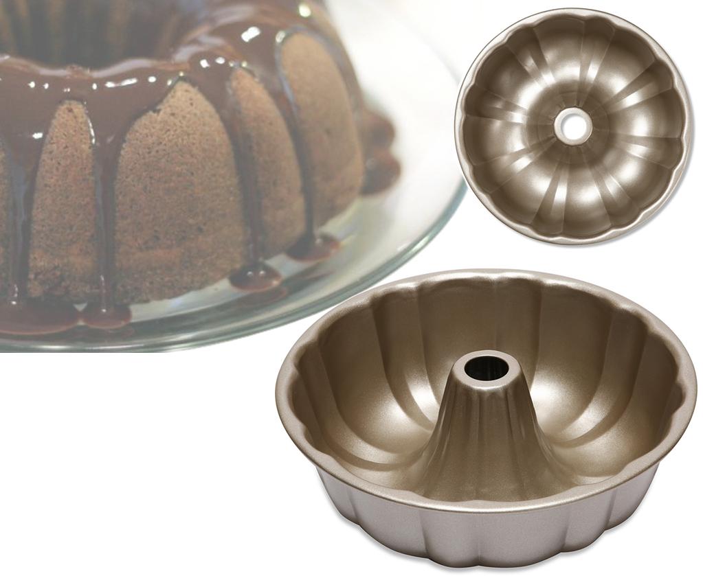 Форма для выпечки кекса Benson BN-1055 золотая | форма для выпекания Бенсон | металлическая формочка Бэнсон