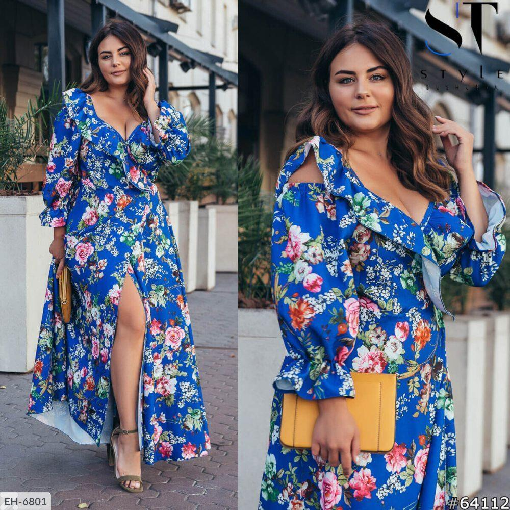 Стильное платье    (размеры 48-64) 0254-89