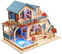 """3D Румбокс Кукольный дом """"BLUE AND WHITE"""""""
