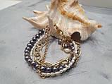 Браслет многорядный Жемчуг и цепочки, фото 6
