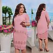 Платье декорированное жемчугом и камнями батал, размеры 56, 58, 60, 62, фото 2