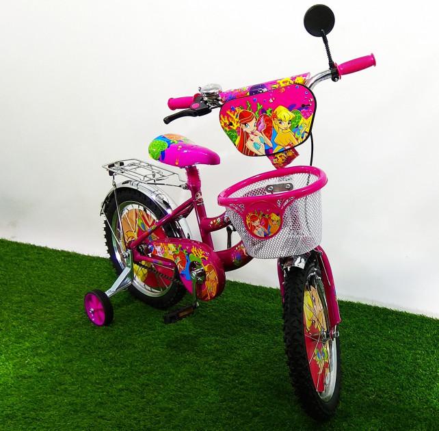 Двухколёсный велосипед Mustang Winx 16 дюймов розовый