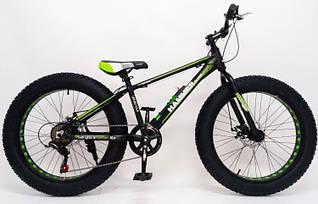 """Спортивный алюминиевый велосипед внедорожник фэтбайк Fat Bike S800 HAMMER EXTRIME 26 дюймов рама 17"""""""