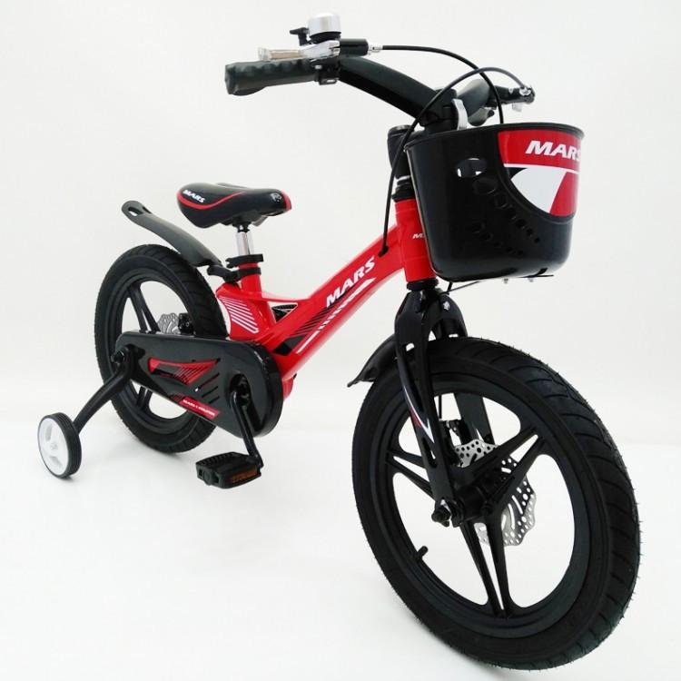 Детский двухколесный велосипед 16 дюймов MARS-2 Evolution (от 5 лет) красный