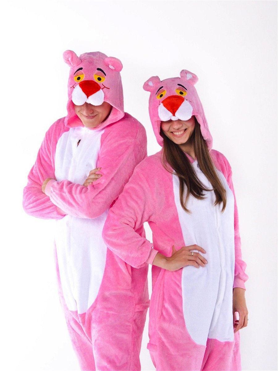 Пижама кигуруми Пантера розовая S (150-160см)