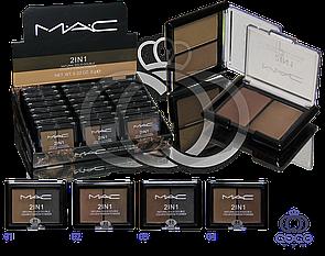 Тіні для брів Mac 2 in 1 Natural Solid Three Color 9 гр