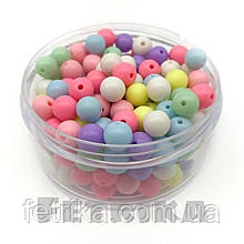 Бусины пластиковые разноцветные 8 мм