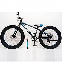 """Спортивний алюмінієвий велосипед фетбайк позашляховик Fat Bike S800 HAMMER EXTRIME 26 дюймів рама 17"""""""