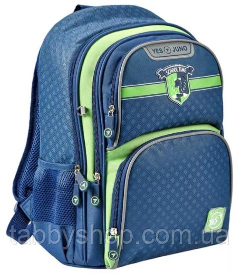 Рюкзак школьный ортопедический YES S-30 Juno School time, синий