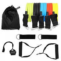 Набор эспандеров с ручками SportVida 4- 22 кг для фитнеса и реабилитации 5 шт (SV-HK0351), фото 1