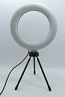 Кольцевая Led лампа для селфи CXB-160 16 см на треноге 14 см