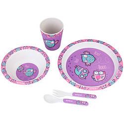Набор посуды из бамбука Owls (5 предметов)