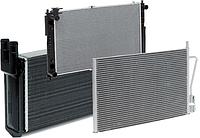 Радиатор охлаждения двигателя NISSAN X-Trail 01- (пр-во NRF). 53453