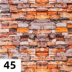 Самоклеюча декоративна 3D панель Катеринославський цегла (різні кольори) 700*770