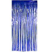 Штора из фольги (синяя) 3х1 м 080920-040