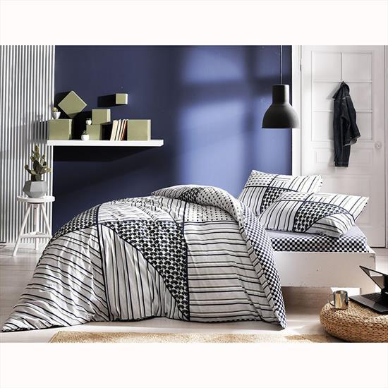 Комплект постельного белья Tac ранфорс Zone V01 полуторный зеленый (TAC60229791)