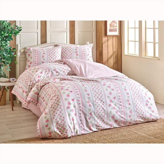 Комплект постельного белья Brielle ранфорс Gonca pembe евро розовый (TAC60209199)