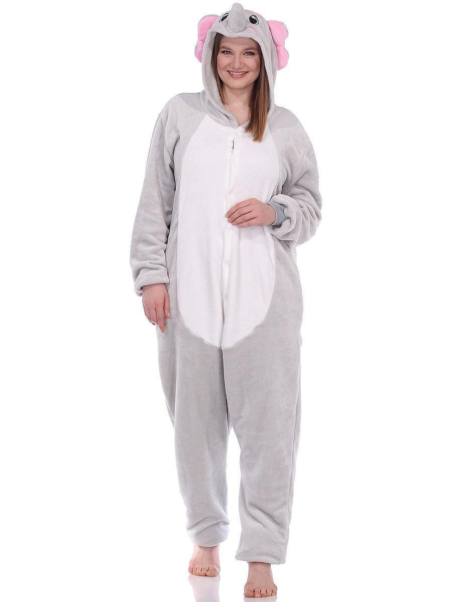 Піжама кигуруми Слон сірий S (150-160см)