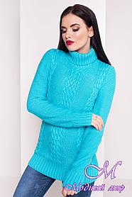 Жіночий светр під горло м'ятного кольору (р. УН - S, M, L) арт. Е-17-14/20058