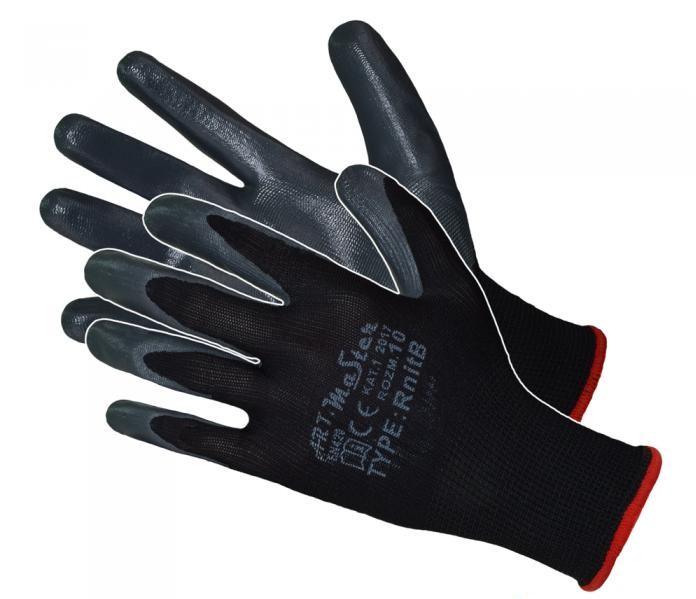 Защитные перчатки Artmas RnitBlack(600) kat.1, серый, 9