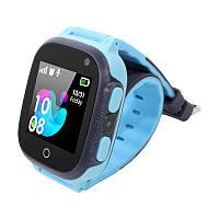 Смарт-часы детские Smart Baby UWatch S16 кнопка SOS камера LBS фонарь набор номера Blue (5153-15315a), фото 1