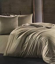 Комплект постельного белья Zugo Home сатин однотонный Light Green полуторный зеленый (ts-02230)