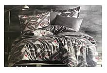 Комплект постільної білизни Zugo Home сатин Regina grey сімейний сірий