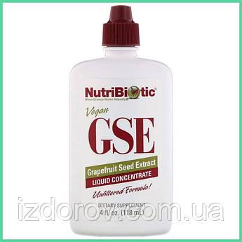 NutriBiotic, Экстракт семян грейпфрута GSE, жидкий концентрат, 118 мл (4 жидкие унции)