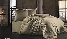 Комплект постельного белья Zugo Home сатин однотонный Light Green евро зеленый (ts-02188)