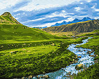 "Картина по номерам ""Альпийский луг"" 40 x 50 cм, фото 1"