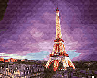 """Картина по номерам """"Эйфелева башня на закате"""" 40 x 50 cм, фото 1"""