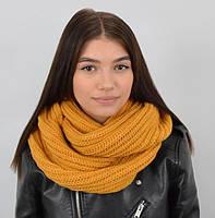 Однотонный вязанный шарф снуд из мягкой турецкой пряжи высокого качества.