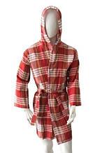 Мужской летний халат Zugo Home Хамамка Пештемаль XXL красный (ts-02091)