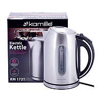 Чайник 1,7 л електричний Kamille з нержавіючої сталі KM-1721