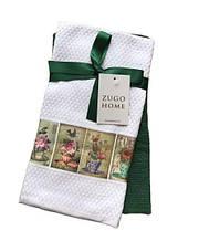 Набор кухонных полотенец Zugo Home Flowerpot 40*60 2 шт зеленый (ts-01981)
