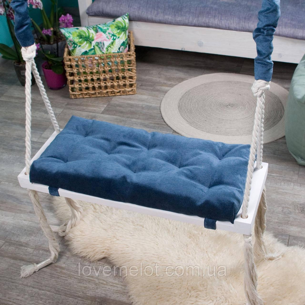 Большая деревянная подвесная качель 25*70см со сьемным сиденьем, качель для детей и взрослых