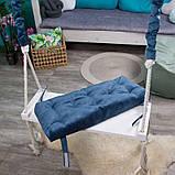 Большая деревянная подвесная качель 25*70см со сьемным сиденьем, качель для детей и взрослых, фото 2