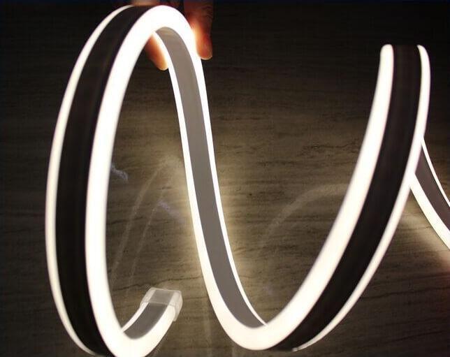 Двостороння LED неонова випромінює стрічка LTL FLEX 8х16мм 120 LED 2835smd IP67 220v White