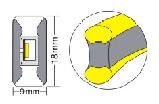 Двостороння LED неонова випромінює стрічка LTL FLEX 8х16мм 120 LED 2835smd IP67 220v White, фото 2