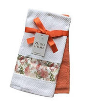 Набор кухонных полотенец Zugo Home Rose 40*60 2 шт оранжевый
