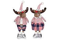 Мягкая новогодняя игрушка Олени, 60см, 2 вида, цвет - розовый (746988)