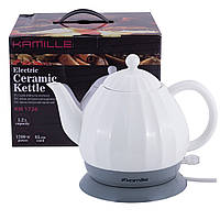 Чайник электрический Kamille керамический, 1.2л. KM-1726