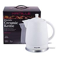 Чайник електричний Kamille керамічний, 1.5 л. KM-1725