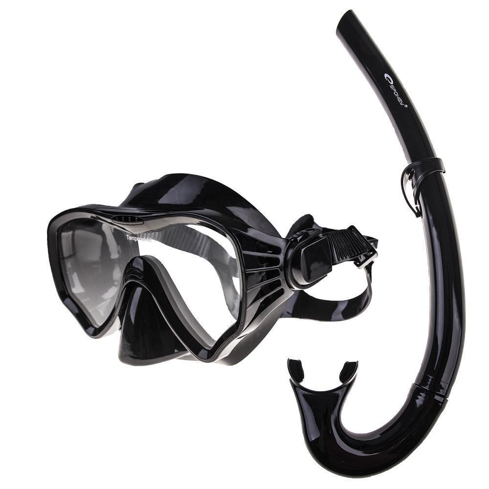 Маска для плавания Spokey Moana 833379 (original), комплект с трубкой, маска для ныряния, взрослая