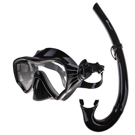 Маска для плавания Spokey Moana 833379 (original), комплект с трубкой, маска для ныряния, взрослая, фото 2